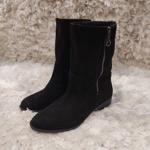 NWOT Qupid black faux fur boots sz 11